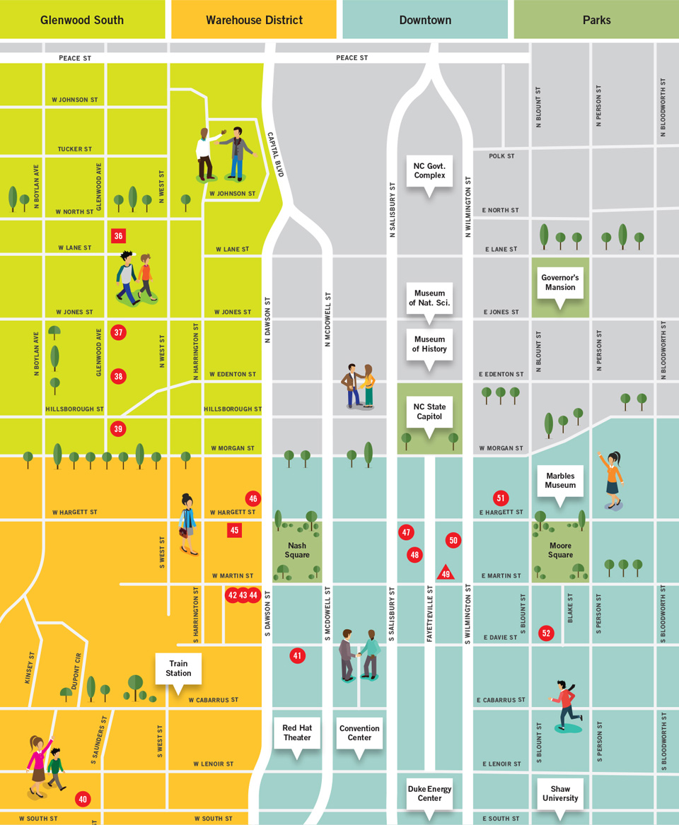 Downtown Raleigh Map // Shopping in the Design District ...