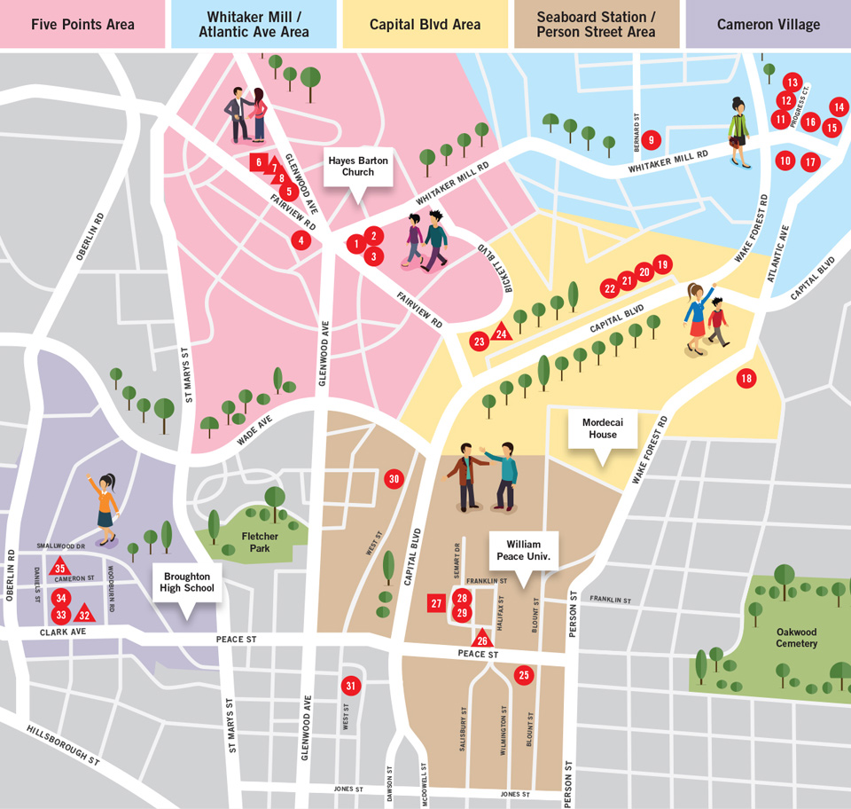 raleigh nc shopping map of the design district raleigh