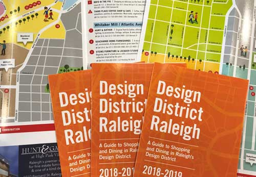 Shopping in Raleigh with a Map of the Design District