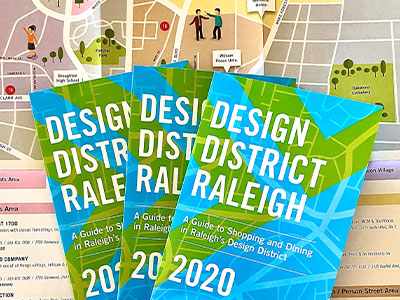 2020 Design District Raleigh Map Cover